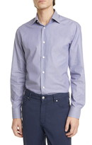 Ermenegildo Zegna Extra Slim Fit Stripe Stretch Button-Up Shirt