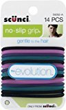 Scunci No-slip Grip Evolution Jelly Ponytailers, 14-Count, Colors may vary