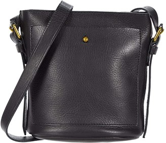 Madewell Mini Transport Bucket Crossbody Bag (True Black) Handbags