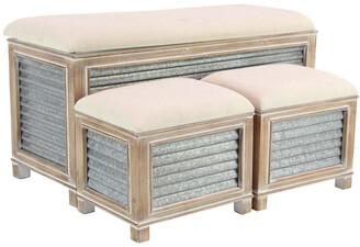 Uma Enterprises Set Of 3 Storage Bench