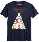 New World Men's Bob's Burgers Food Pyramid Graphic-Print T-Shirt