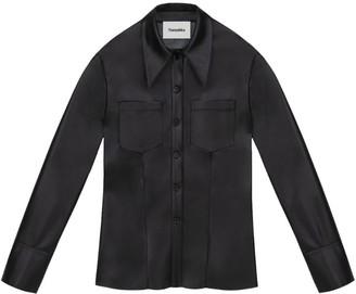 Nanushka Vegan Leather Tippi Shirt