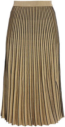 Proenza Schouler Pleated Metallic Stretch-knit Midi Skirt