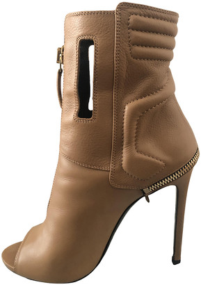 Gianmarco Lorenzi Camel Leather Boots