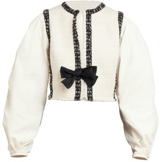 Giambattista Valli Puff-Sleeve Bow Front Jacket