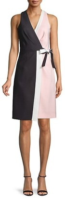 Avantlook Colorblock Wrap Dress