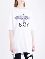 Boy London Lace-up sides cotton-jersey T-shirt