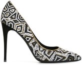 Salvatore Ferragamo patterned court shoes - women - Leather/Metal (Other) - 7