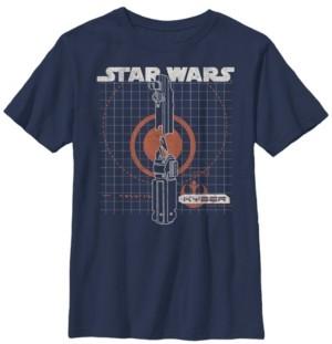Star Wars Big Boys Kyber Schematics Short Sleeve T-Shirt