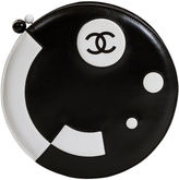 One Kings Lane Vintage Round Chanel Black & White Bag