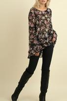 Umgee USA Black Floral Top