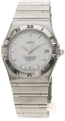Omega White Stainless Steel Constellation Automatic 1506.20 Men's Wristwatch 36 MM