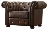 Homelegance Chesterfield Arm Chair Chocolate - Inspire Q
