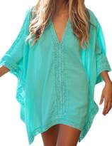 Sexyshine Women's V Neck Solid Oversized Beach Swimsuit Cover Up Dress