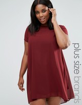 AX Paris Plus Swing Dress With Sheer Insert