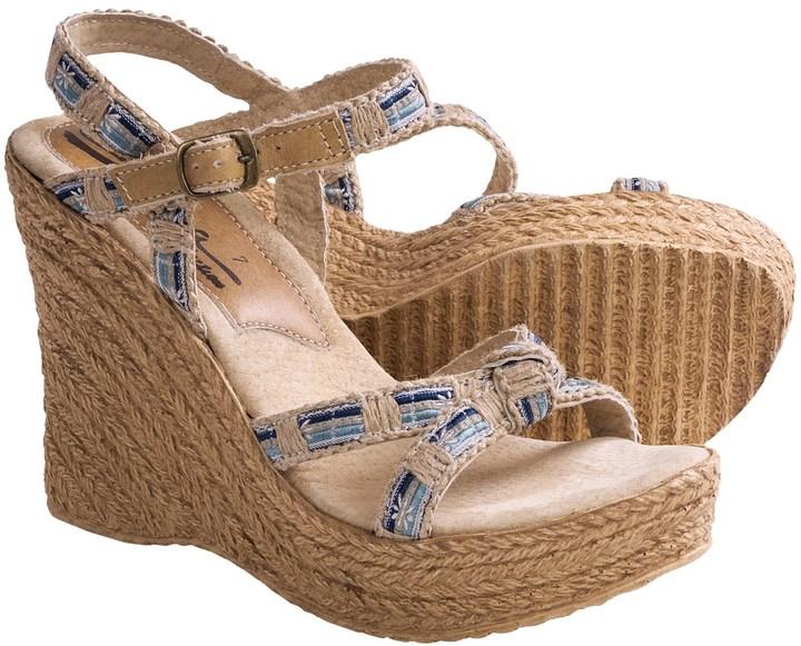 Sbicca Sydney Wedge Sandals - Denim (For Women)