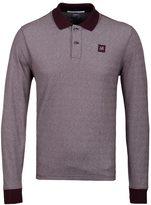 Cp Company Blackcurrant Marl Long Sleeved Polo Shirt