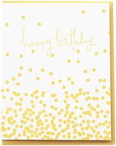 Dahlia Press Confetti Birthday, Letterpress Greeting Card