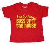 Dirty Fingers, I'm the New Boss of the House, Baby T-shirt, 18-24m