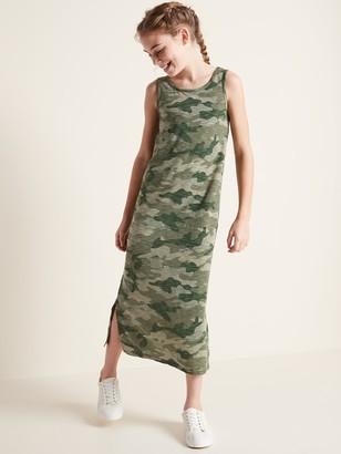Old Navy Printed Slub-Knit Bow-Back Maxi Sundress for Girls