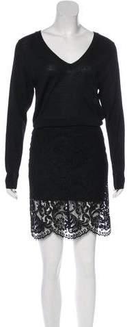 Sacai Long Sleeve Wool Dress w/ Tags