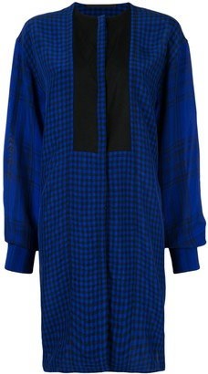 Haider Ackermann Blue Checked Shirt
