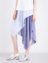 Opening Ceremony Handkerchief-panelled high-rise cotton-blend skirt