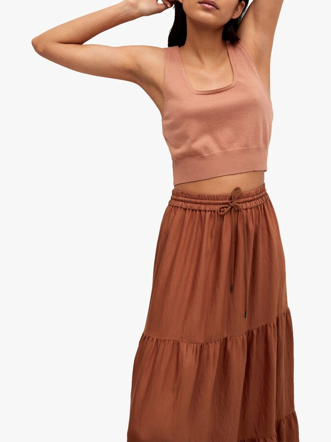 Thumbnail for your product : MANGO Tiered Maxi Skirt