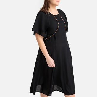 Castaluna Plus Size Cotton Embroidered Dress