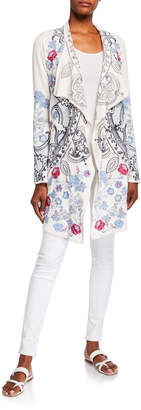 Johnny Was Nohan Embroidered Wrap Jacket