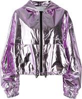 MSGM hooded jacket - women - Cotton/Polyurethane - 42
