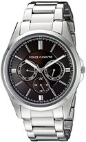 Vince Camuto Men's VC/1084BYSV Multi-Function Silver-Tone Bracelet Watch