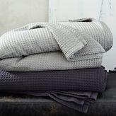 Organic Stitched Blanket - Asphalt + Gray