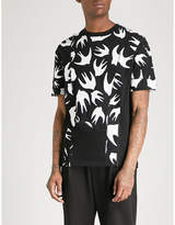 McQ Inverted swallow-print cotton-jersey T-shirt