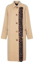 Burberry Leopard-Print Accent Car Coat
