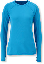 L.L. Bean Polartec Power Dry Stretch Base Layer, Midweight Long-Sleeve Crew