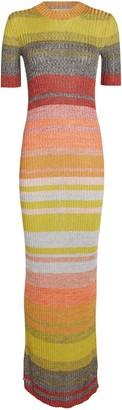 Zimmermann Brightside Striped Rib Knit Dress