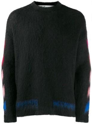 Off-White Diagonal brushed jumper
