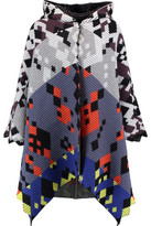Peter Pilotto Ottoman Ribbed Wool And Angora-Blend Hooded Cape