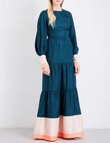 Roksanda Letava silk-twill gown