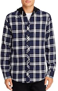 Sovereign Code Plaid Hooded Regular Fit Shirt Jacket