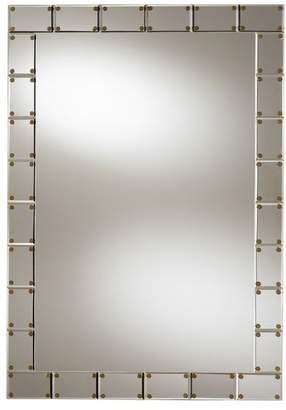 Baxton Studio Barth Silver Rectangular Tile Accent Wall Mirror