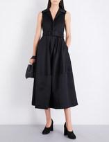 Co Sleeveless cotton-sateen midi dress