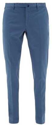 Incotex Tailored Stretch-cotton Twill Chinos - Mens - Blue