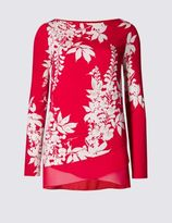 Marks and Spencer Long Sleeve Printed Jersey Top