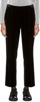 Lanvin Black Velvet Tailored Trousers