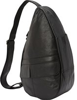 AmeriBag Small Classic Leather Healthy Back Bag, Small Wide