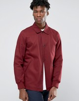 Asos Cotton Coach Jacket in Burgundy