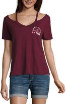 Fifth Sun Short Sleeve V Neck Graphic T-Shirt