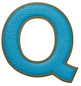 "Anya Hindmarch Capra Leather Oversized ""Q"" Sticker"